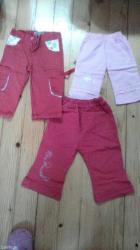 Letnje pantalonice roze velicina 1,crvene sa cvetićima veličina 2 - Belgrade
