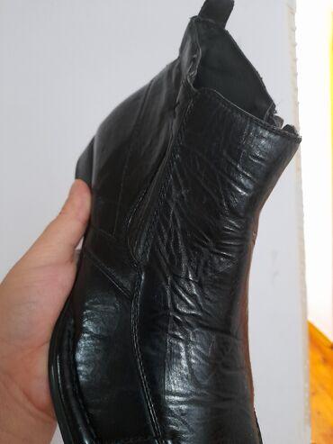 Мужские итальянские кожаные ботинки ( сапоги ). Размер 44 . ИТАЛИЯ
