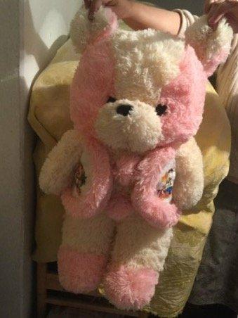 большая мягкая игрушка медвежонок в Кыргызстан: Большие мягкие игрушки:медвежонок в жилетке ( розового цвета, высота