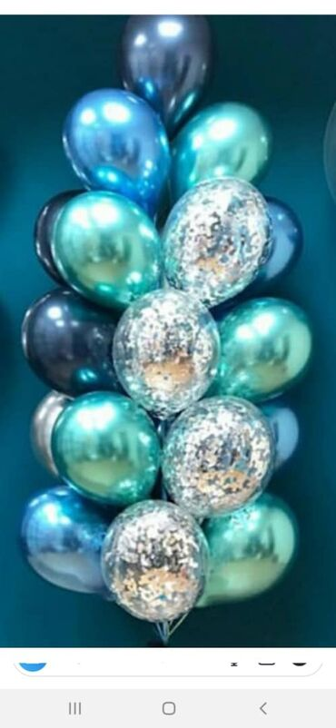 Хромовые шарики с гелием на выписку с роддома набор от 700 сом. Шарики