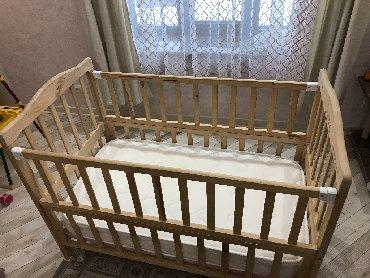 Продается детская кроватка из натурального дерева (экологичная, без ла