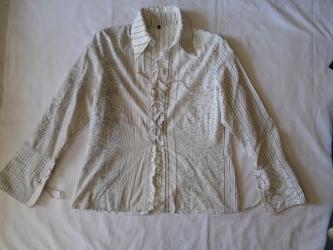 Košulja na pertlanje, dezen je u nekom pačvork fazonu, otprilike XL - Belgrade