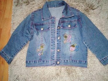 Dečije jakne i kaputi | Zajecar: Teksas jaknica,vel. 5, malo nosena