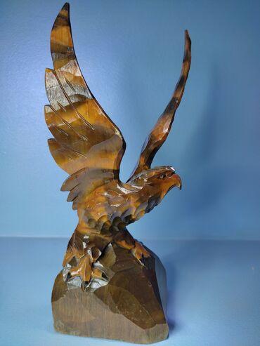 Статуэтка из дерева Орёл Производство СССР. Высота 26 см