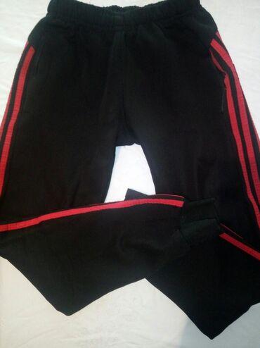S - M размер, брюки спортивные, мужские / женские, черного цвета с