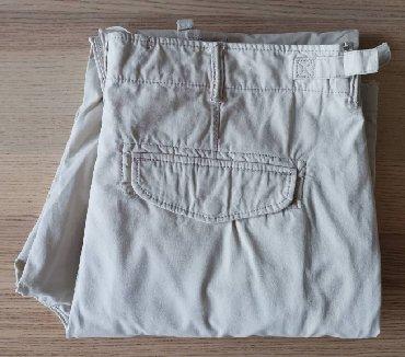Batman-h-m - Srbija: H&M svetle cargo pantalone, veličina 38 - NOVOH&M svetle cargo