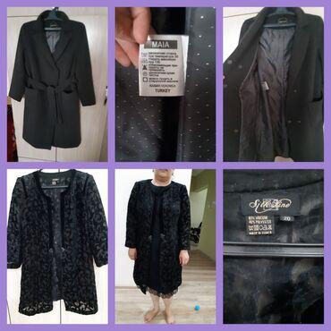 женское пальто в Кыргызстан: 1)Пальто женское в идеальном состоянии турецкой фирмы MAIA,кашемир