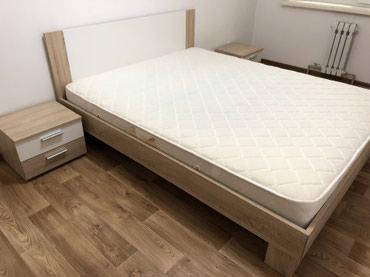 Спальная кровать  С 2 тумбами и матрасом  в Бишкек