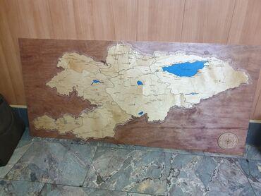 Карта Кыргызстана! 130см на 60см