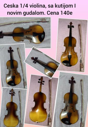 Sport i hobi - Pozarevac: Ceska 1/4 violina, 140eu kompletu idu violina + gudalo + kutijaza vise