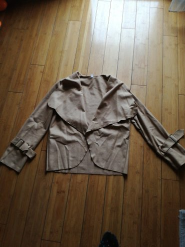 Hm-tanka-jaknica-puder-roza-s - Srbija: Krem tanka jaknica velicina univerzalna