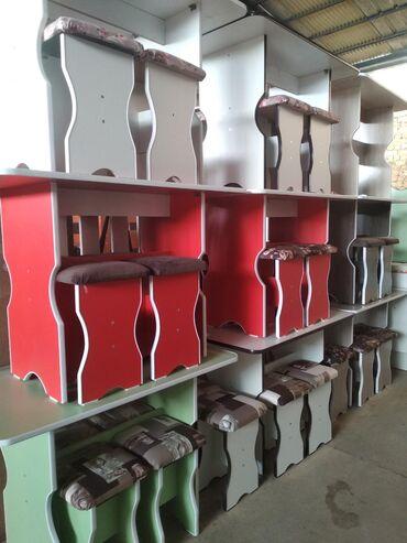кухонный стол стулья в Кыргызстан: Стол и четыре табуреткиКухонные столы для кухни со стульямиКухонный