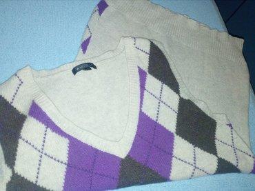 Prsluk pulover marke newyorker. topao,očuvan  širina 40cm, dužina 66cm - Beograd - slika 3