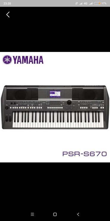 Синтезаторы в Кыргызстан: Продаю синтезатор Yamaha psr s 670 новый в упаковке