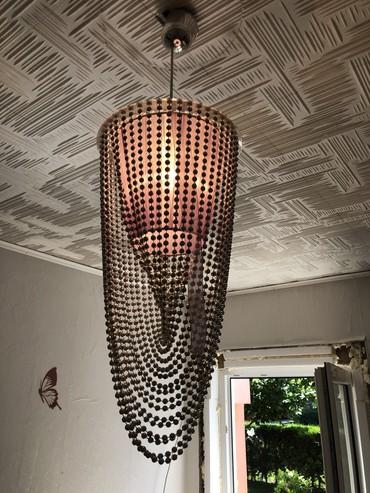 Rasveta   Pancevo: Polovan luster, ljubicaste boje, sa srebrnim perlicama