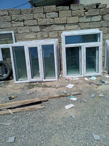 Pəncərələr - Azərbaycan: 120×140=85 manat 1 ededi teze plastik pəncərənin qiyməti Binə sovxoz