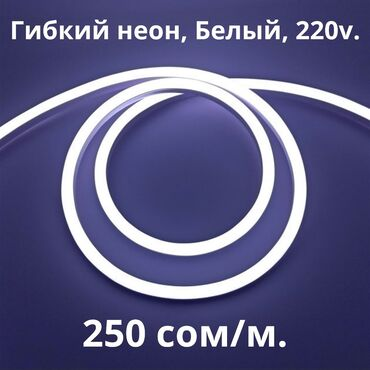 ультрафиолетовая лампа бишкек in Кыргызстан | ОСВЕЩЕНИЕ: Светодиодная гибкая неоновая лента 220V, Белый.Светодиодный гибкий