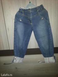 Pantalonice od džinsa za devojčice (moguće podesiti i na 3/4),broj - Vrsac