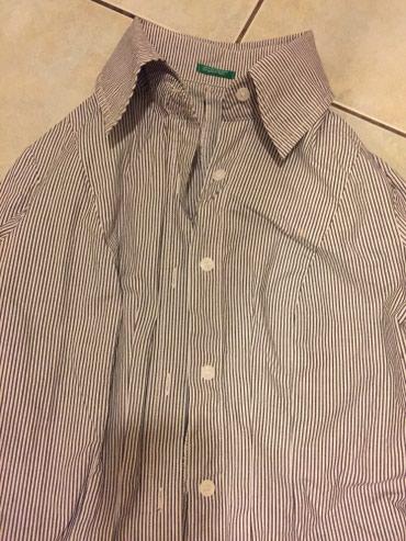7add08a8b8e Benetton βαμβακερό ριγέ πουκάμισο , καφέ-λευκό Νο small Αφόρετο