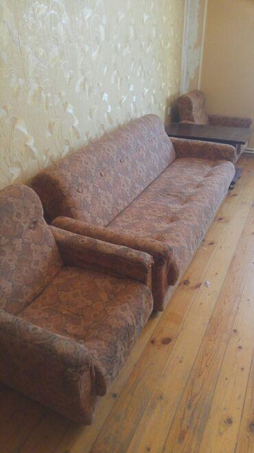 диван и 2 кресла в Азербайджан: Комплекты диван и кресло | С базой | 2 кресла