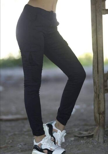 Zenske pantalone broj - Srbija: Pantalone dzeparice zenske Teget plava boja Br 28-29-30 2150din
