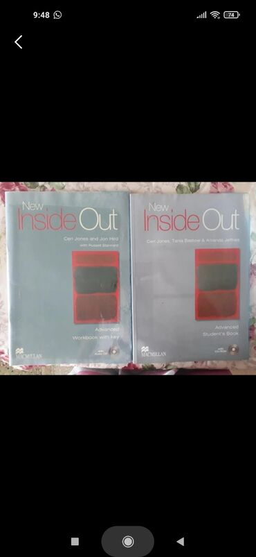 wexler book в Кыргызстан: Inside out Advanced  work book + student's book + CD disk