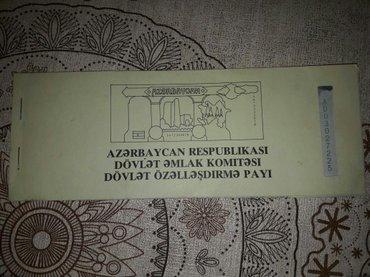 Bakı şəhərində Dövlət əmlak komitesi özəlləşdirmə payı 4 eded var əla vəziyyətdədi