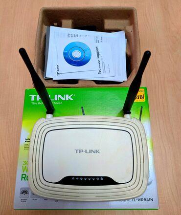 Modem router TP-Link, hec bir problemi yoxdu, yaxşı işləyir, 4
