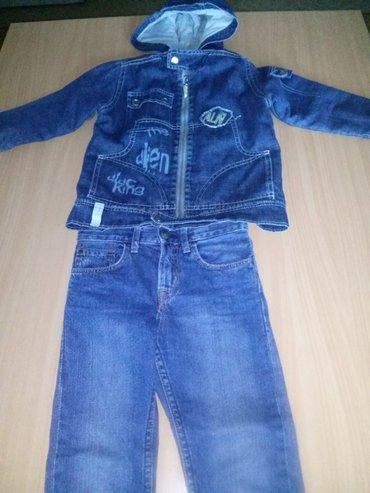 Farmerke i teksas jakna za dečaka od 3 do 4 godine. Farmerke su hm, - Belgrade
