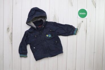 Дитяча джинсова куртка з відстібним капюшоном Mihino    Довжина: 37 см