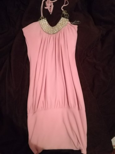 Kratka pink haljinica, odlican materijal..skupo placena - Pirot