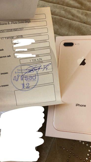 Bakı şəhərində İPHONE 8+ GOLD 64gb TECİLİ OLARAQ SATILIR:1450 man