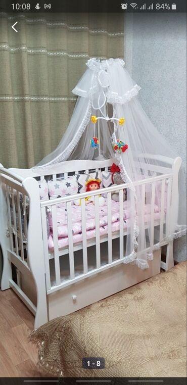 детское велокресло в Кыргызстан: Продам детскую кровать, которой не пользовались. Все как фото, кроме
