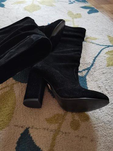 Nove čizme od antilopa, do kolena, crne, potpuno nove, br 38 i