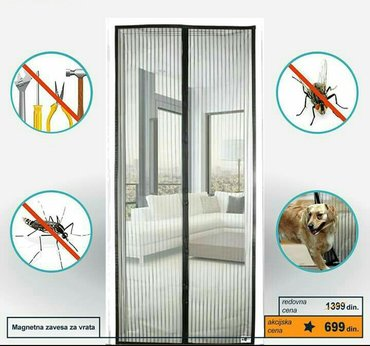 AKCIJA!!!!Mrezasta zavesa za na vrata!!! SAMO 600 DIN!!! Ima u braon i in Kragujevac