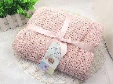 Вязанное детское одеяло 100% хлопок 100х140 см