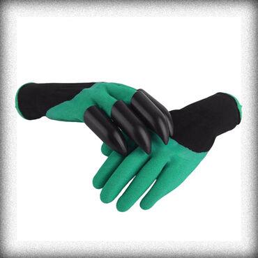 Садовая одежда - Кыргызстан: Садовые перчатки с когтями garden genie gloves+бесплатная