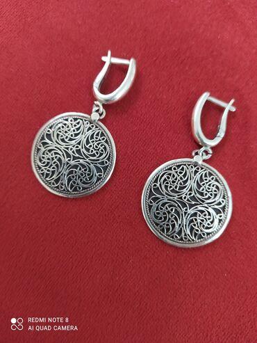 мичуринский квартал бишкек в Кыргызстан: Серьги серебро 925,Италия.новые