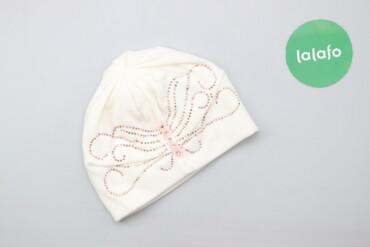 Жіноча біла шапка із візерунком Exclusive Collection   Напівобхват гол