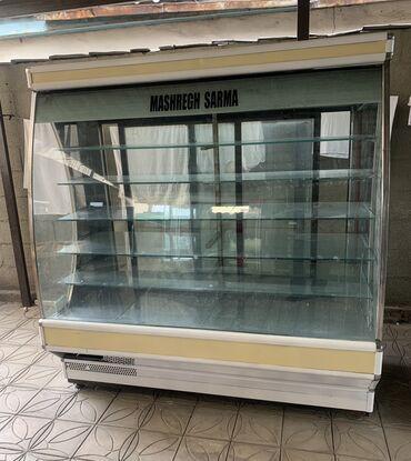 витринный холодильник купить в Кыргызстан: Б/у Холодильник-витрина Желтый холодильник