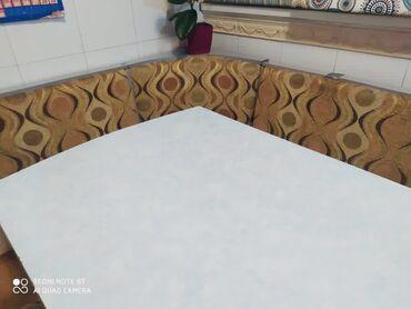 уголок для кухни в Кыргызстан: Продаю кухонный уголок, обеденный стол и 4 табуреткиСтол 150*80 см
