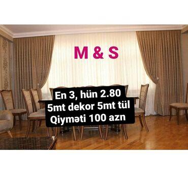 tul - Azərbaycan: Eni -3metr  Hundurluyu -2.80 Dekor -5metr  Tul-5metr  Qiymet:100azn
