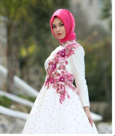 вечернее платье в горошек в Кыргызстан: Мусульманское платье из шелка вышитый бусинками. Покупали