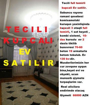 Bakı şəhərində Tecili full temirli kupcali Ev satilir.
