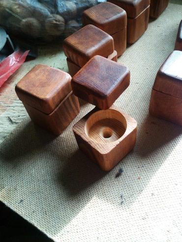 Шкатулки - Кыргызстан: Продаю шкатулки для колец ручной работы по 150 сом штука есть 10 штук