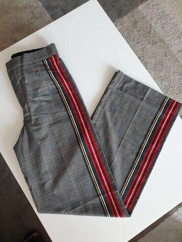 Dimenzije - Srbija: Zara pantalone novo vel XS/S. Dimenzije poluobim struka 36 pozadi