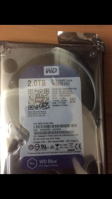 sador диски в Азербайджан: Hard Disk Western Digital 2TB Blue WD20EZRZForm-faktor -3.5Diskin