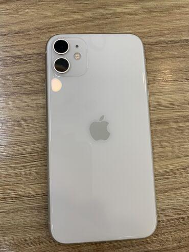 Электроника - Ош: IPhone 11 | 64 ГБ | Белый Б/У | Гарантия, Face ID, С документами