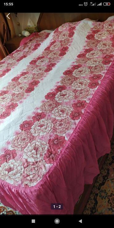 постельное принадлежности в Кыргызстан: Продам очень красивое покрывало, советских времён! На полуторку!