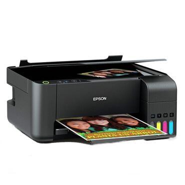 cherno belyj printer 3v1 в Кыргызстан: Акция новые 3/1 принтера МФУ струйное Epson L3110 (A4, printer